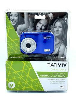 Vivitar ViviCam X054 10.1 MP Digital Camera Blue Videocam NE