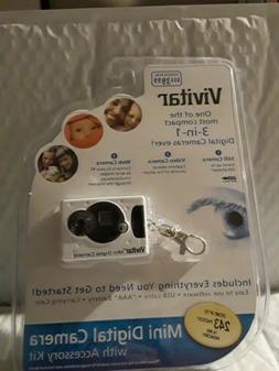 Vivitar Mini Digital Camera with Micro Light Keychain Set -