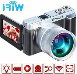 Vlogging Camera Digital Cameras, VideoSky FHD 1080P 24MP 16X