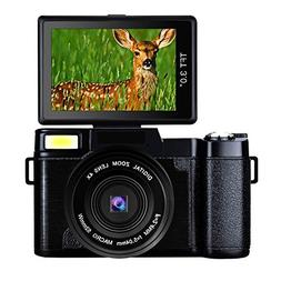 Digital Camera Full HD Video Camera 1080p 24.0MP Vlogging Ca