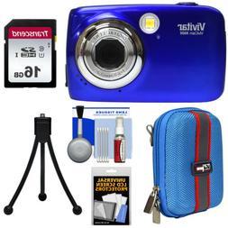 Vivitar VX022-BLU 10.1 MP Digital Camera with 1.8-Inch LCD