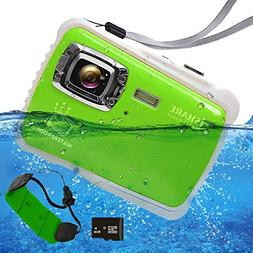 Waterproof Digital Camera Kids, ISHARE Kids Camera 21MP HD U