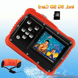 Waterproof Camera for Kids, Crazyfire 12MP HD 720P Kids Digi
