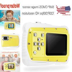 Waterproof Digital Camera CMOS Dust Proof HD 720P 12MP LCD C