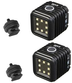 LitraTorch 2 Pack Waterproof Dimmable 8-LED Digital Camera /
