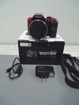 Samsung WB1100F 16.2MP CCD Smart WiFi NFC Digital Camera RED