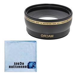 58MM Wide Angle/Macro Lens for Canon 18-55mm, 55-250mm, 75-3