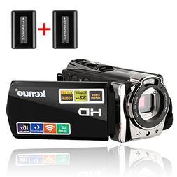 Camera Camcorders,Kenuo 1080P 24MP HD WiFi Digital Video Cam