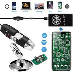 Jiusion WiFi USB Digital Handheld Microscope, 40 to 1000x Wi