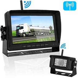 Digital Wireless Backup Camera and 7''Monitor Kit System for
