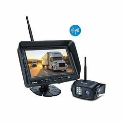 Digital Wireless Backup Camera System Kit, IP69K Waterproof