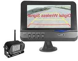 4Ucam Digital Wireless CCD Camera 7 Monitor for Bus RV Trail
