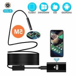 Power Wireless Endoscope, Waterproof Semi-rigid USB Endoscop