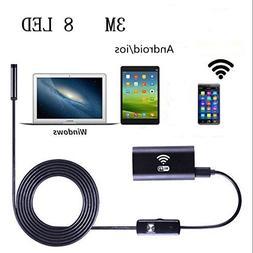Wireless USB Endoscope, 8mm Digital Wifi USB Inspection Came