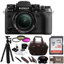 Fujifilm X-T2 Mirrorless Digital Camera w/ 18-55mm Lens + Fo