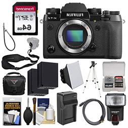 Fujifilm X-T2 4K Wi-Fi Digital Camera Body with 64GB Card +