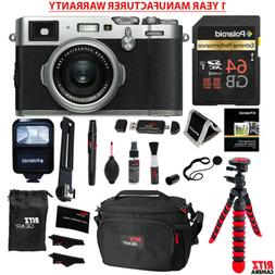 Fujifilm X100F 24.3MP APS-C Digital Camera Silver  + MANUFAC