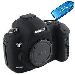 First2savv XJPT-5D3GJ-01 black Rubber Camera Case Bag for Ca