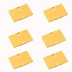 DSTE® 6pcs yellow Battery Storage Case/Organizer/Holder Pro