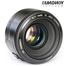 Yongnuo YN50mm F/1.8 Lens Large Aperture AF Lens in Black Fo